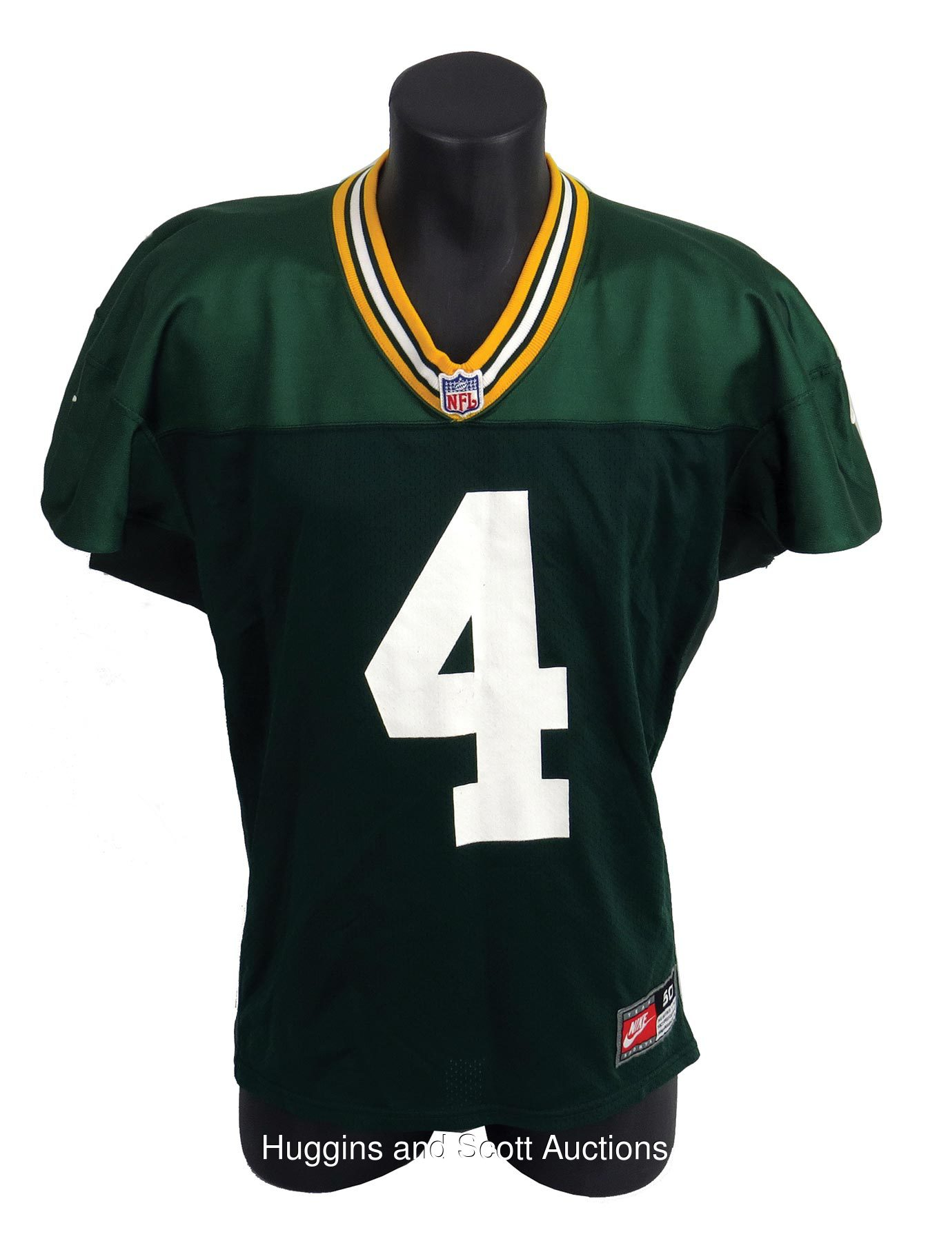 new arrivals dbf69 7fb09 1997 Brett Favre Green Bay Packers Practice Used Jersey