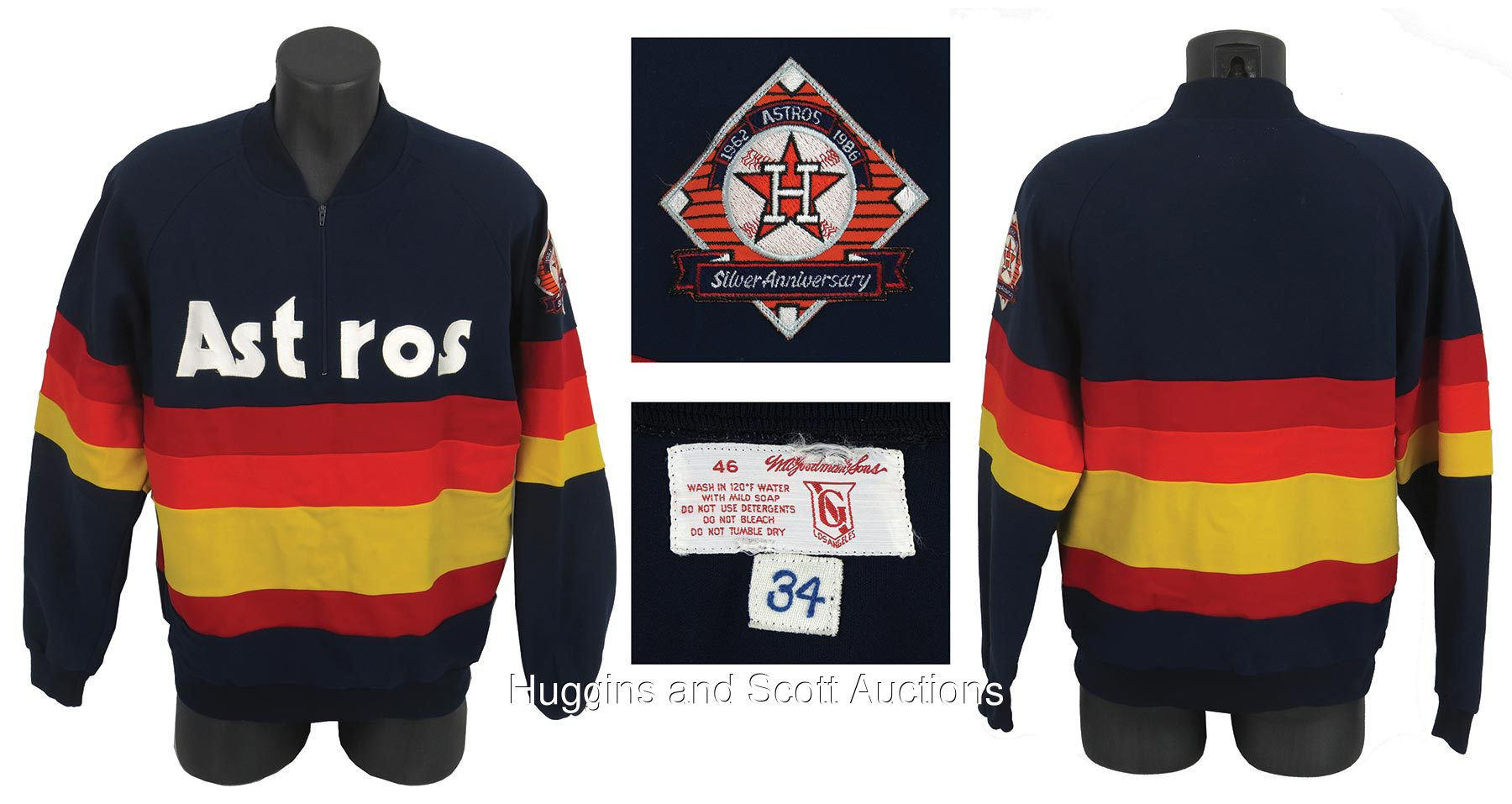 428b77e3181 1986 Nolan Ryan Game Worn Houston Astros Warm Up Jacket with UDA Letter