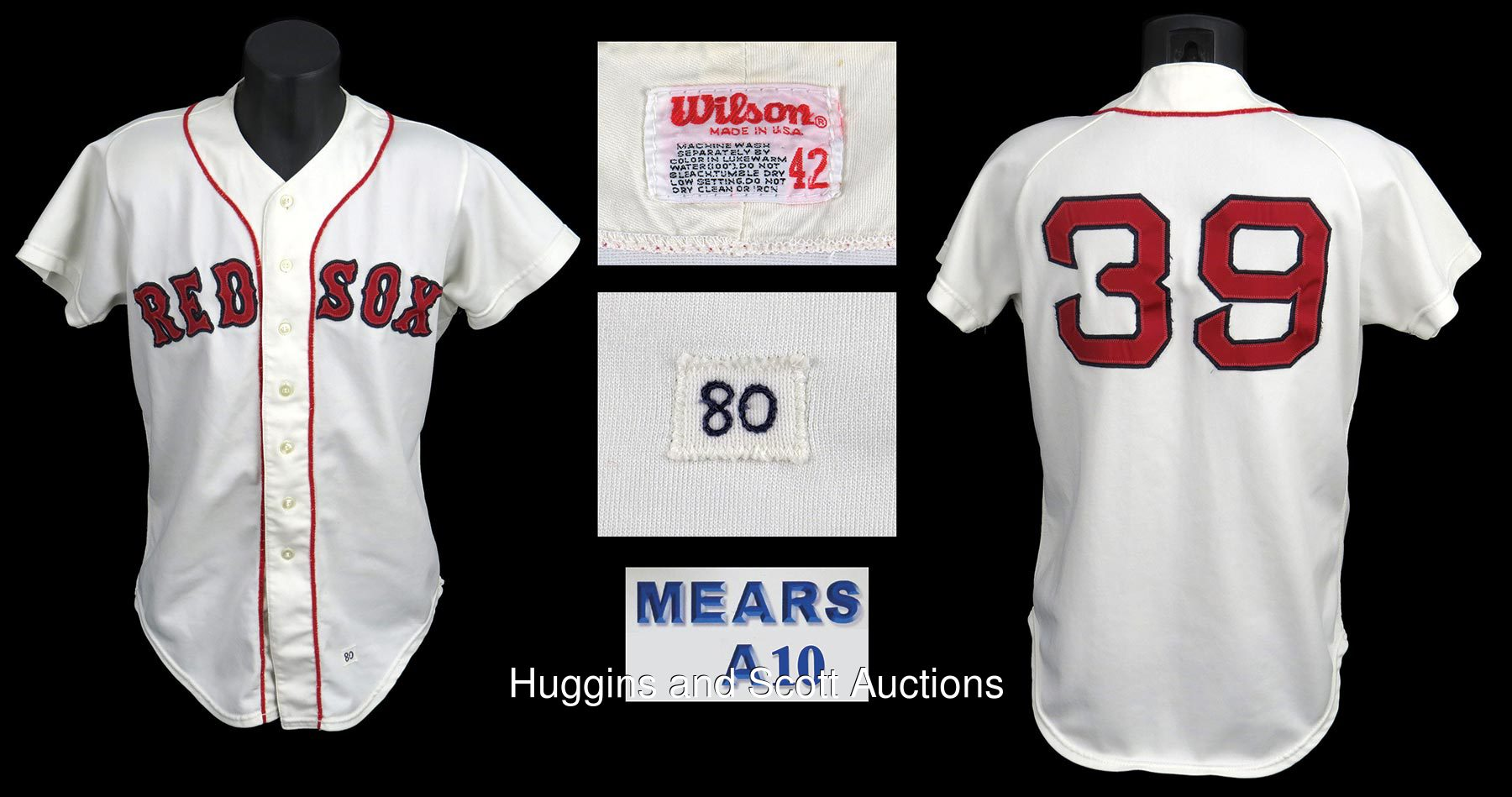 sports shoes 29c55 bb5f0 1980 Gary Allenson Game-Used Boston Red Sox Home Jersey ...