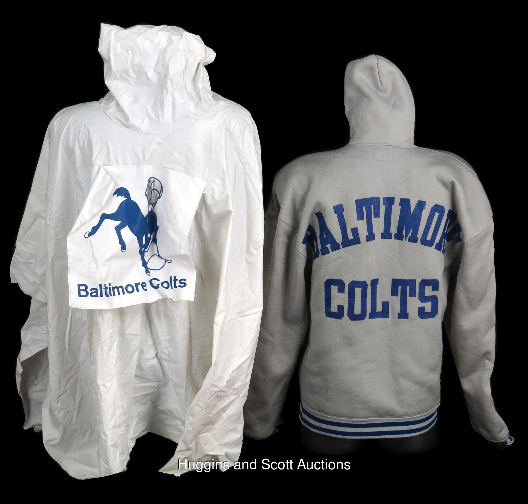 1960s-70s Baltimore Colts Sideline Apparel Piece Duo with Hoodie