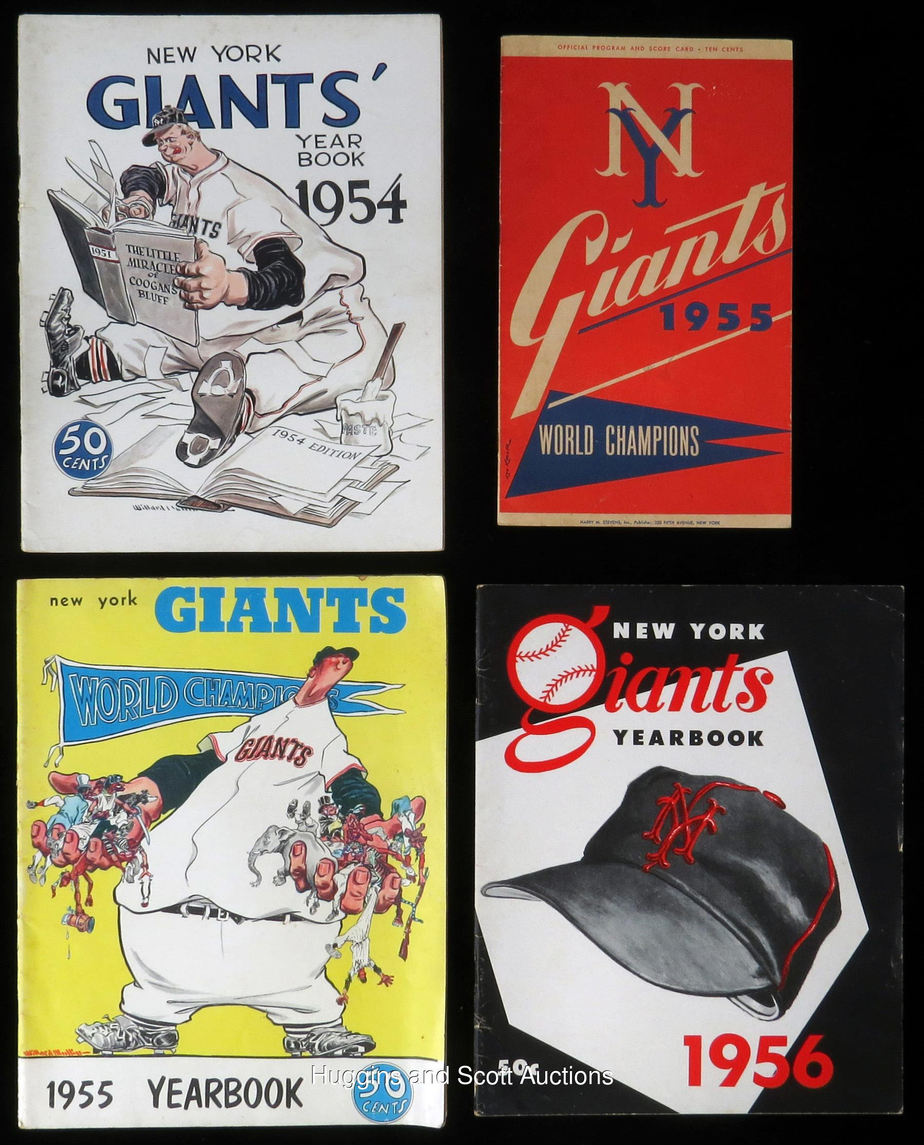 6bd4b917 1952-1956 New York Giants Baseball Memorabilia Collection of (7)